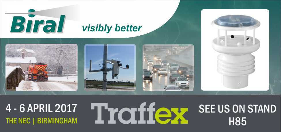 Visit Biral on stand #H85 at Traffex 2017
