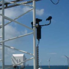 Biral's VPF-730 Present Weather Sensor Installed on an Off-shore Wind Turbine Substation