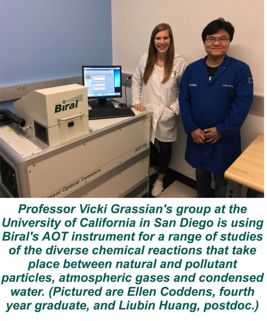 Biral's AOT-100 at the University of California